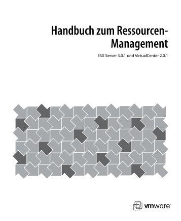 Handbuch zum Ressourcen-Management - VMware