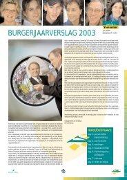 Info Voerendaal, special burgerjaarverslag, juni 2004, jaargang 17 ...