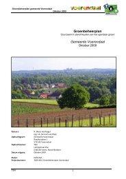 Groenbeheerplan Gemeente Voerendaal