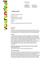 \ raadsvoorstel - Gemeente Voerendaal