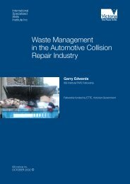 Waste Management in the Automotive Collision Repair Industry