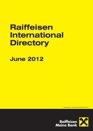 Raiffeisen International Directory - Raiffeisen Bank International AG