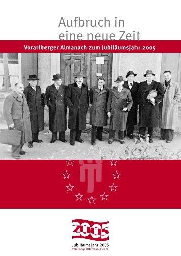 Titel, Impressum, Inhaltsverzeichnis (PDF) - Vorarlberg