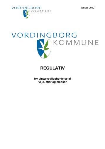 Regulativ for vintervedligeholdelse af veje, stier og pladser