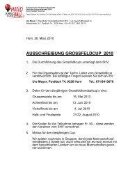 AUSSCHREIBUNG GROSSFELDCUP 2010 - Handballworld