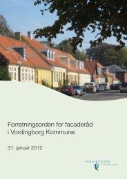 Forretningsorden for facaderåd i Vordingborg Kommune
