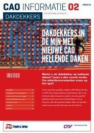 Pamflet 2 over eigen cao Hellende Daken - FNV Bouw