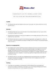 Wijzigingsvoorstellen FNV Meubel & Hout cao ... - FNV Bouw