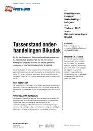 Pamflet Tussenstand cao-onderhandelingen Bikudak - FNV Bouw
