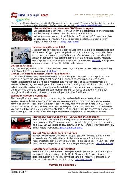 Pagina 1 van 4 Belastingaangifte over 2012 - FNV Bouw
