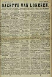 Zondag 22 April 1894. 51* Jaar N- 2632 Lokeren 21 April.
