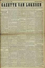 Zondag 18 October 1891. 48« Jaar N° 2501. Lokeren 17 Oct.