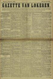Zondag 1 Februari 1891. 48* Jaar N° 2473. Lokeren 31Januari