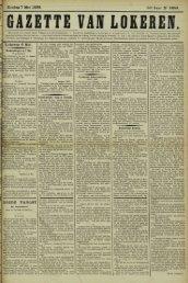 Zondag 7 Mei 1899. 56° Jaar N° 2859. Lokeren 6 Mei. 4 GOEDE ...