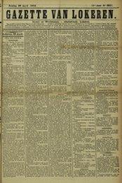Zondag 26 April 1914. 71« Jaar N» 3841. Bureel en Werkhuizen ...