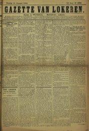 Gazette van Lokeren » van Zondag 11 Januari 1914.