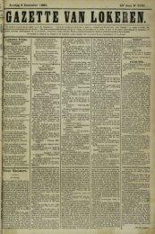 Zondag 9 December 1883. 40° Jaar N° 2123. Lokeren 8 Dec. Twee ...