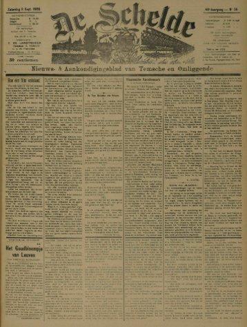 Meuws- & Aankondigingsblad van Temsche en Omliggende