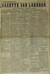 Zondag 27 December 1908. 65' Jaar N° 3362. Bureel en Werkhuizen