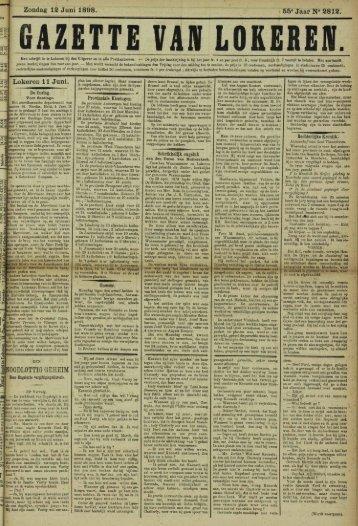 Zondag 12 Juni 1898. 55« Jaar N° 2812. Lokeren 11 Juni.