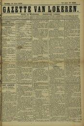 Zondag 14 Juni 1914. 71» Jaar N» 3648. Bureel en Werkhuizen ...