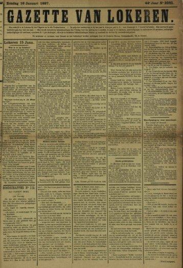 Zondag 16 Januari 1887. 44«JaarN°2285. Lokeren 15 Janu.