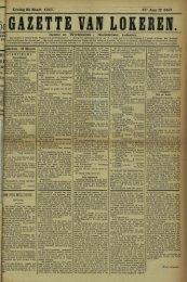 Zondag 20 Maart 1910. 67* Jaar N° 3427. Bureel en Werkhuizen ...