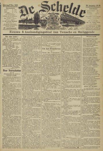 Nieuws- & Aankondigingsblad van Temsche en Omliggende