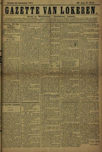 """Zondag 24 December 1911. 68» Jaar N"""" 35 IS. Bureel en """"Werkhuizen"""