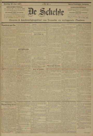 Meuws- & Aankondigingsblad van Temsche en omliggende Plaatsen