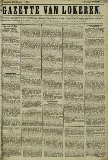 Zondag 27 Januari 1884. 41» Jaar N° 2130.