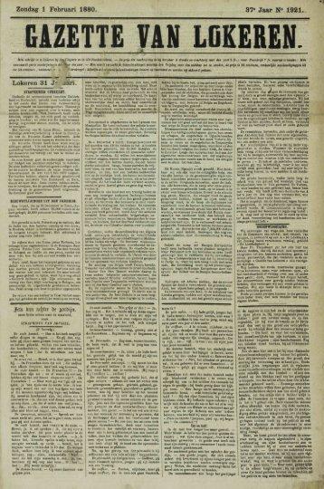 Zondag 1 Februari 1880. 37- Jaar N* 1921. Lokeren 31 J^ aari.