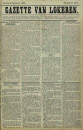 Zondag 9 September 1877. 34* Jaar N° 1777. Lokeren 8 September ...