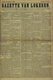 Zondag 28 Augusti 1892. 49» Jaar N° 2546. Lokeren 27 Aug.