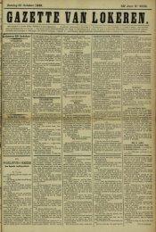 Zondag 30 October 1898. 55° Jaar N° 2832. Lokeren 29 October