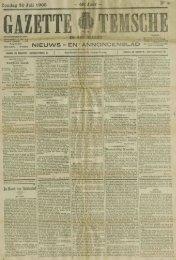 Zondag 30 Juli 1905 NIEUWS - EN/