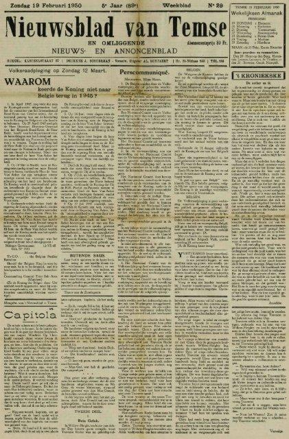Nieuwsblad van Temse I