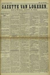 iOkeren 5 April. Zondag 6 April 1902. 59° Jaar N° 3011. Bureel en ...