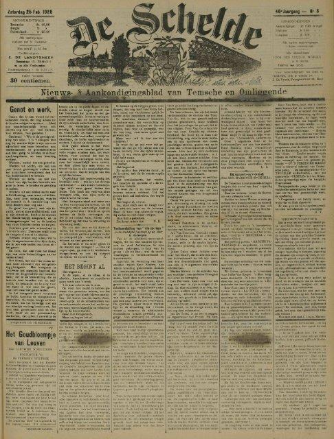 Nieuws- & Aankondiping8blad van Temsche en Omliggende
