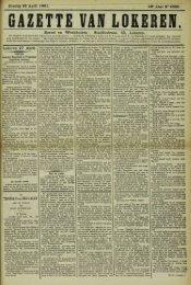 Zondag 28 April 1901. 58° Jaar N° 2962. Bureel en Werkhuizen ...