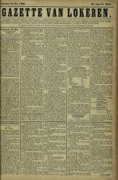 Zondag 20 Mei 1888. 45- Jaar N° «334. Lokeren 19 Mei. s Zwarte ...