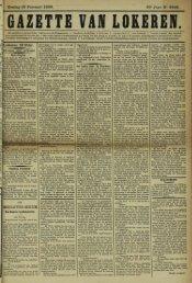 Zondag 19 Februari 1899. 56° Jaar N° 2848. Lokeren 1-8 Febr.