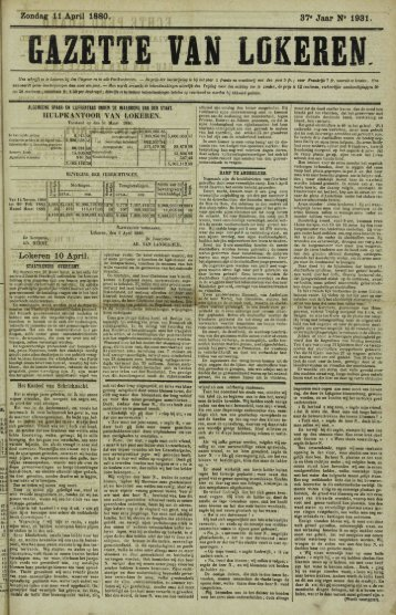 Zondag 11 April 1880. 37* Jaar N» 1931. GAZETTE VAN LOKERE