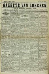 Zondag 4 April 1909. 66' Jaar N° 3376. Bureel en Werkhuizen ...