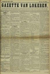 Zondag 24 April 1898. 55° Jaar N° 2805. Lokeren 23 April ...