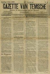 Zondag 7 Juli 1889 ste Jaargang N' 5. Nieuws- & Annoncenbïad van ...