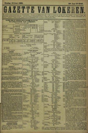 Zondag 18 Juni 1882. 39» Jaar N° 2045.
