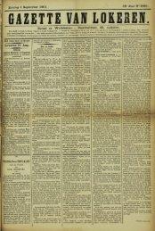 Zondag 1 September 1901. 58° Jaar N° 2980. Bureel en Werkhuizen