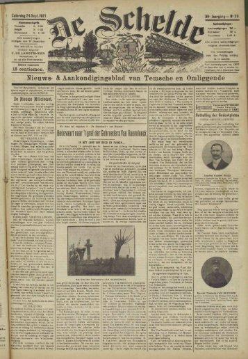 Nieuws- h Aankondigingsblad van Temsche en Omliggende