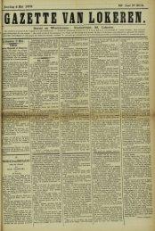 Zondag 4 Mei 1902. 59° Jaar N° 3015. Bureel en